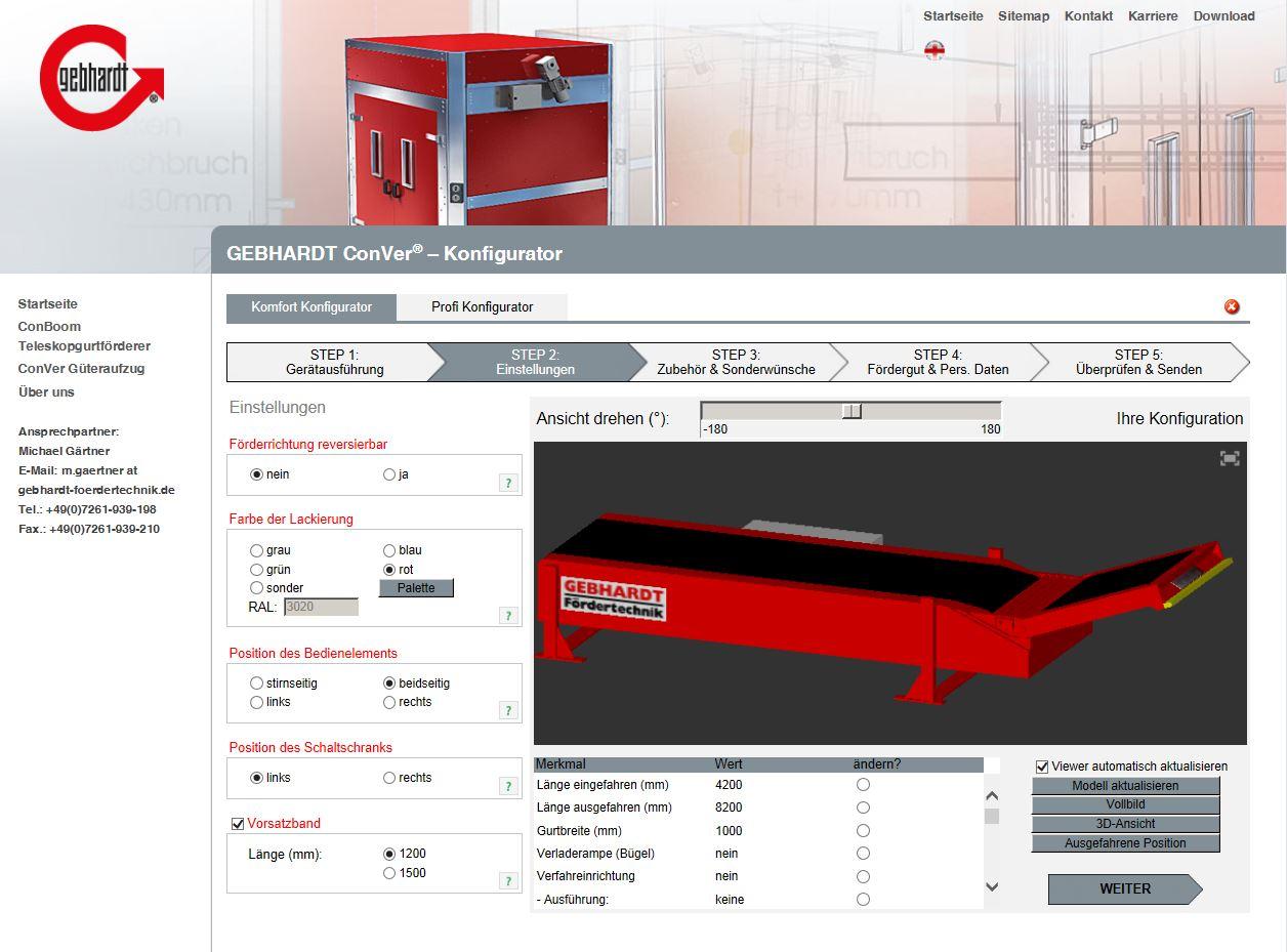 3D configurators delight customers on the Internet | ACATEC